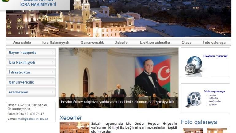 Səbail Rayon İcra Hakimiyyətinin İnternet resursu: www.sabail-ih.gov.az domen adlı İnternet saytının monitorinqinin yekunu /İCMAL/