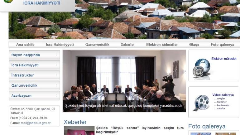 Şəki Rayon İcra Hakimiyyəti www.sheki-ih.gov.az  domen adlı İnternet saytının monitorinqinin yekunu   /İCMAL/