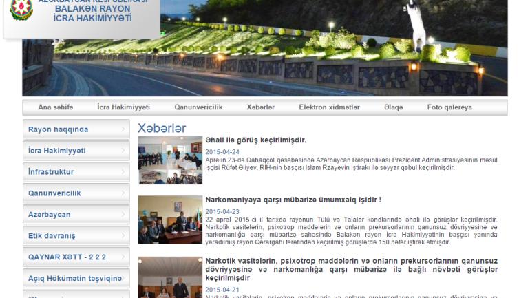Balakən Rayon İcra Hakimiyyəti www.balaken-ih.gov.az domen adlı İnternet saytının fəaliyyətinin təkmilləşdirilməsi ilə bağlı TÖVSİYƏLƏR