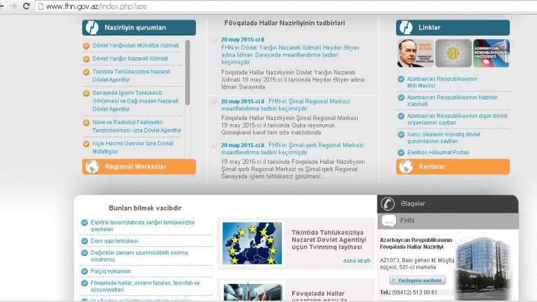 Fövqəladə Hallar Nazirliyinin www.fhn.gov.az domen adlı İnternet saytının fəaliyyətinin təkmilləşdirilməsi ilə bağlı TÖVSİYƏLƏR