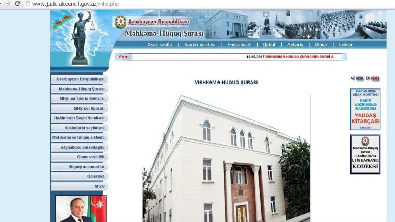 Məhkəmə-Hüquq Şurasının www.judicialcouncil.gov.az domen adlı internet saytınnı monitorinqinin yekunu /İCMAL/