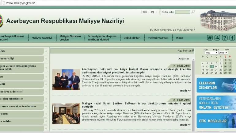 Maliyyə Nazirliyinin www.maliyye.gov.az domen adlı İnternet saytının monitorinqinin yekunu /İCMAL/