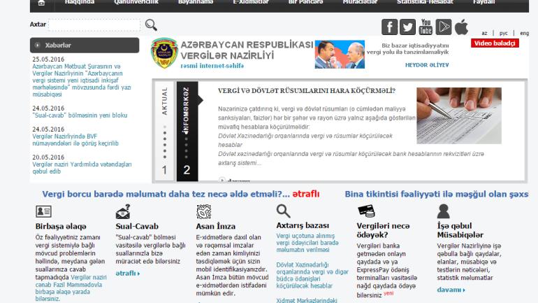 Vergilər Nazirliyinin www.taxes.gov.az  domen adlı İnternet saytının monitorinqinin yekunu /İCMAL/