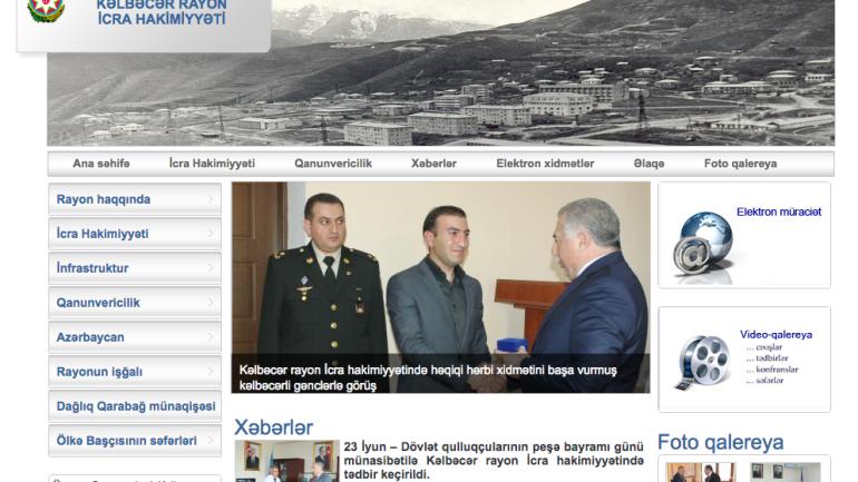 Kəlbəcər Rayon İcra Hakimiyyəti www.kelbecer-ih.gov.az domen adlı İnternet saytının monitorinqinin yekunu /İCMAL/